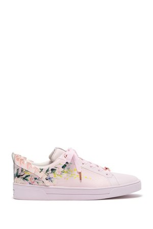 Ted Baker London | Astrina Leather Printed Ruffle Sneaker | Nordstrom Rack