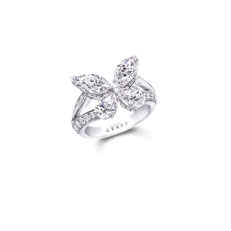 Classic Butterfly Ring, Diamond | Graff