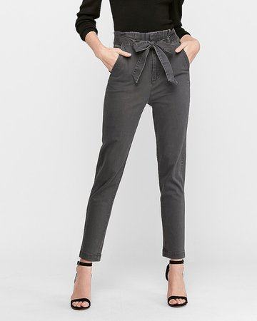 High Waisted Paperbag Trouser Pant