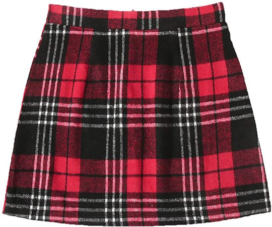 Floerns Women's Plaid High Waist Bodycon Mini Skirt at Amazon Women's Clothing store