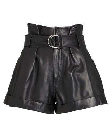 Marissa Webb Dixon Leather Paperbag Shorts | INTERMIX®