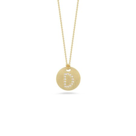 "Roberto Coin 18ct Diamond and Gold Initial ""D"" Necklace"