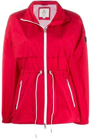 Zipped Drawstring Parka Coat