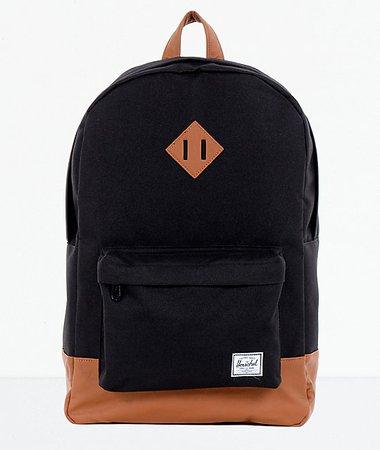 Herschel Supply Co. Heritage Black & Tan Backpack | Zumiez
