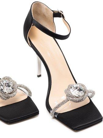 MACH & MACH Rosie 95mm crystal-embellished Sandals - Farfetch