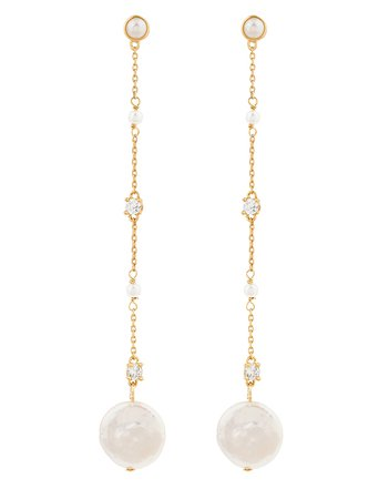 Long Pearly Drop Earrings | Nude | One Size | 8817621300 | Accessorize