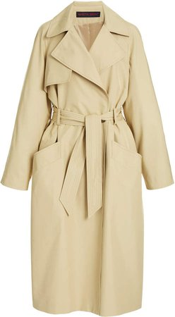 Martin Grant Voluminous Gabardine Trench Coat