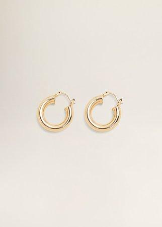 Gold earrings Mango