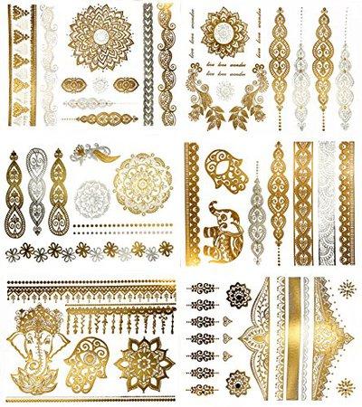 Terra Tattoos Metallic Henna Tattoos