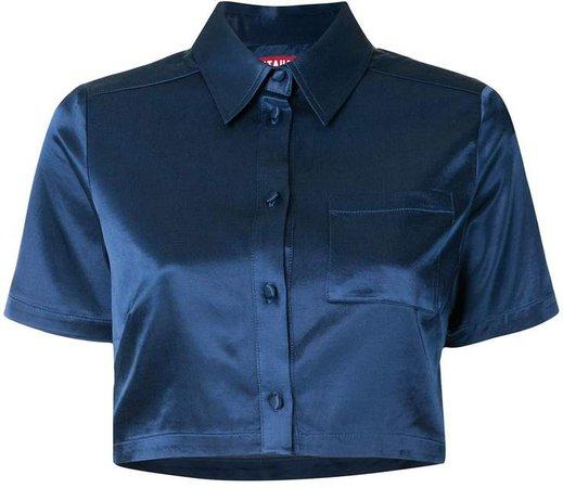 Copa satin crop shirt