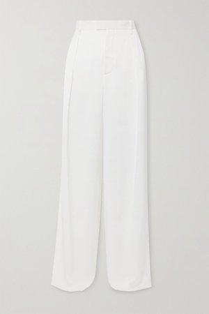 Ivory Silk-satin pants | Bottega Veneta | NET-A-PORTER