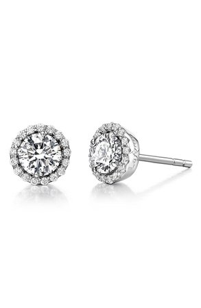 Lafonn Birthstone Diamond Stud Earrings - April | Nordstrom