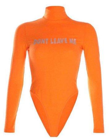 orange bodysuit