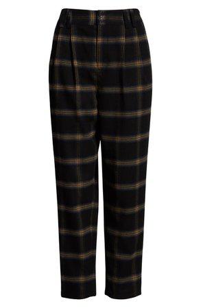 BP. x Claudia Sulewski Plaid Menswear Crop Pants | Nordstrom