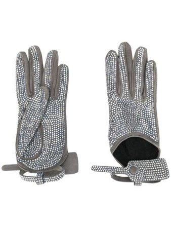 Off-White Crystal-Embellished Gloves OWNE007F19G000509600   Farfetch