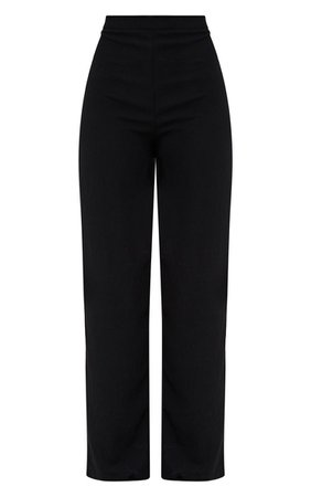 Pretty Little Thing Black Wide Leg High Waisted Pants
