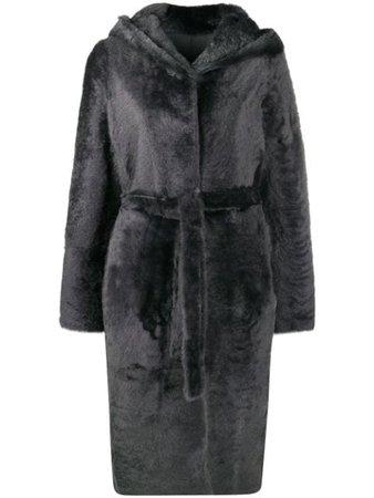 Yves Salomon tie-waist Fur Coat - Farfetch