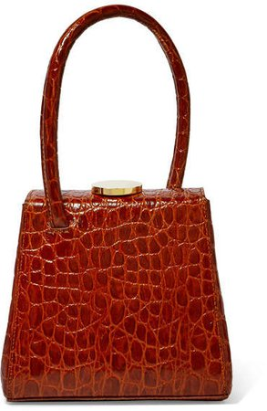 Little Liffner - Mademoiselle Croc-effect Leather Tote - Red