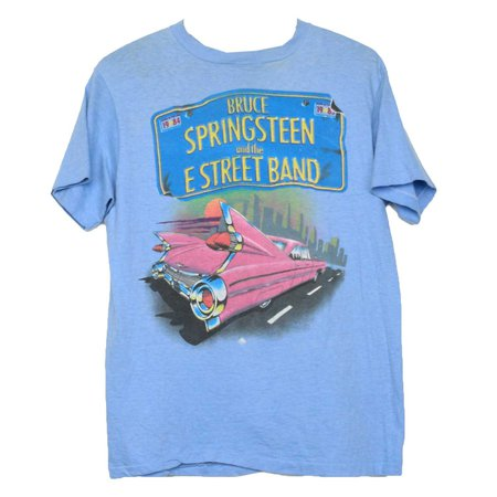 Bruce Springsteen Shirt Vintage tshirt 1984 Born In The USA Tour concert tee 1980s E Street Band Roc — imgbb.com
