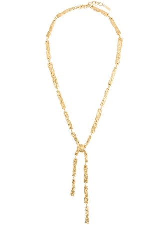 Chloé Hammered Pendant Necklace - Farfetch