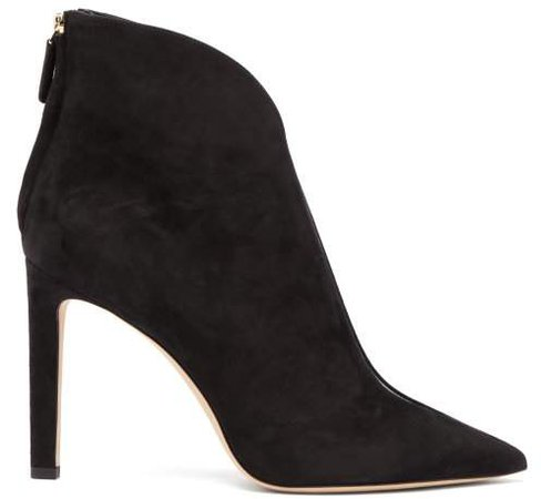 Bowie 100 Suede Ankle Boots - Womens - Black