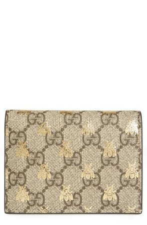 Gucci GG Supreme Bee Canvas Bifold Wallet | Nordstrom