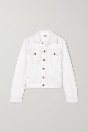 Net Sustain Nica Distressed Denim Jacket - White