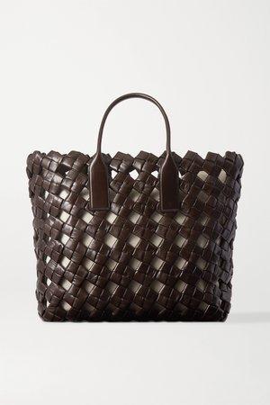Dark brown Woven leather tote | Bottega Veneta | NET-A-PORTER