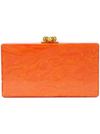 Edie Parker Marbled-Effect Box Clutch Bag JE0001 Orange | Farfetch