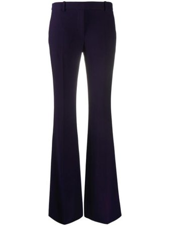 Shop blue Alexander McQueen tailored bootcut trousers with Express Delivery - Farfetch