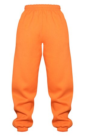 Bright Orange Casual Jogger   Trousers   PrettyLittleThing