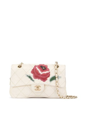 Chanel Pre-Owned Wild Stitch Lambskin Flap with Rose Applique Shoulder Bag £2,868 - Shop Online. Same Day Delivery in London
