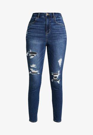 American Eagle CURVY SUPER HI RISE JEGGING - Jeans Skinny Fit - indigo - Zalando.se