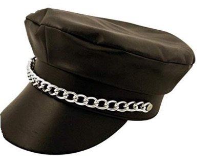 black chain cap