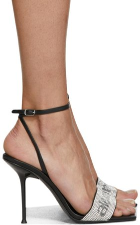 Black Julie Heeled Sandals