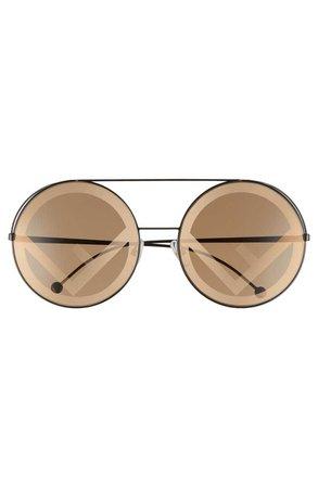 Fendi Run Away 63mm Round Sunglasses   Nordstrom