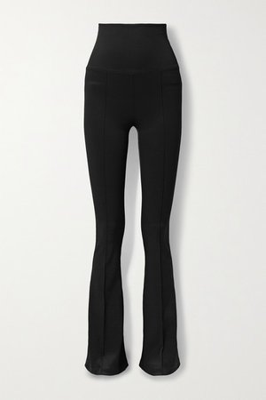 Stretch-jersey Flared Leggings - Black