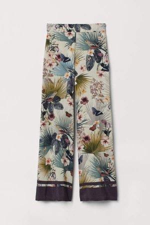 Wide-leg Pants - White