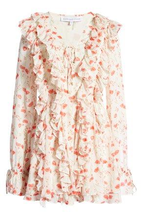 Endless Rose Floral Ruffle Long Sleeve Dress | Nordstrom