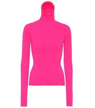 Neon turtleneck sweater