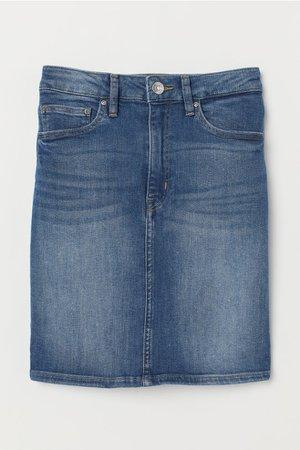 Denim Skirt - Denim blue - Ladies | H&M US