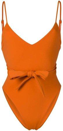 Gamela bow-embellished swimsuit