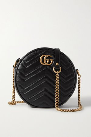 Black GG Marmont Circle quilted leather shoulder bag   Gucci   NET-A-PORTER