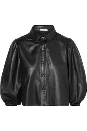 GANNI | Rhinehart leather shirt | NET-A-PORTER.COM