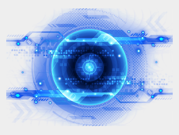 And Blue Eyes Eye Light Science Technology Clipart - Transparent Robot Eye Png, Cliparts & Cartoons - Jing.fm