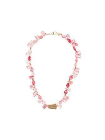 Pink Apples & Figs Sea and Shell gold-plated quartz necklace 03NECPEBBYSEAPQ - Farfetch