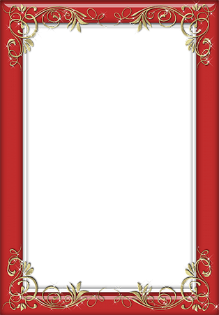 Holiday Red Transparent Frame | Gallery Yopriceville - High-Quality Images and Transparent PNG Free Clipart