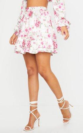 Pink Frill Panel High Waist Mini Skirt | PrettyLittleThing