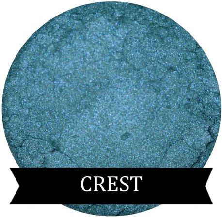Teal Blue Eyeshadow CREST | Etsy