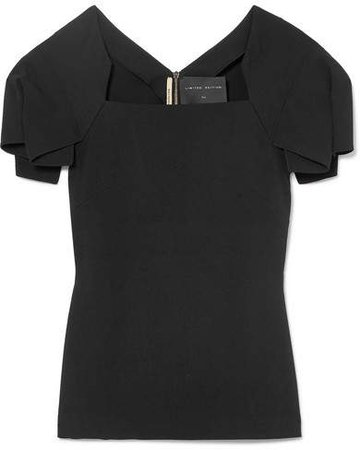 Darfield Crepe Top - Black